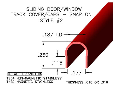 Sill Track Cover Sliding Door Hardware Replacement Window Hardware