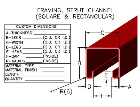 [STRUT-01]([STRUT-01.jpg]) - Metal  sc 1 st  Johnson Brothers Roll Forming & Strut Channels Stainless Steel Track Channel Struts Metal ...