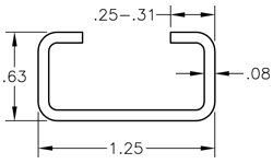 C-Channels, Box Channel, Steel C Channel, Aluminum, and Stainless